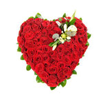 Heart Red Rose Arrangement