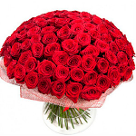 Classical bouquet of 101 red roses
