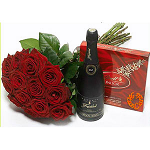 Bouquet of red Roses & Gifts