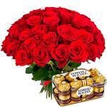 35 Red Roses & Ferrero